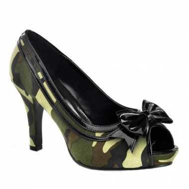 Sexy  Camouflage peep toe pumps schoenen