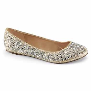 Sexy goud/zilveren ballerina schoenen glitters dames