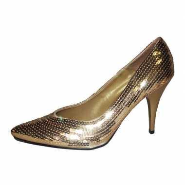 Sexy gouden pumps pailletten schoenen