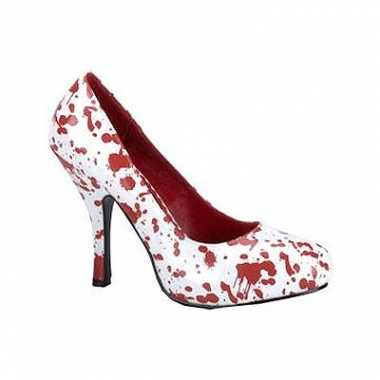 Sexy  Halloween Bloederige witte pumps schoenen