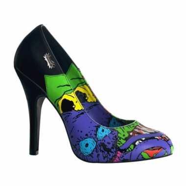 Sexy  Halloween Zombie pumps blauwe print schoenen
