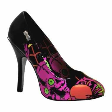 Sexy  Halloween Zombie pumps roze print schoenen