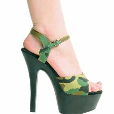 Sexy leger print pumps volwassenen schoenen