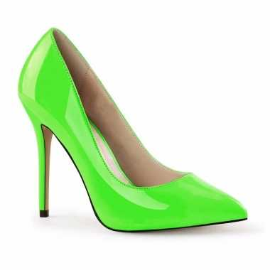 Sexy neon groene stiletto pumps glow the dark dames schoenen
