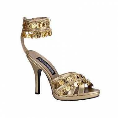 Sexy pumps met gouden munten