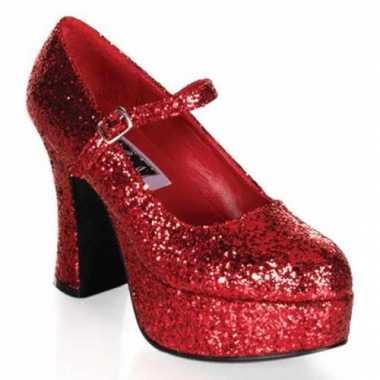 Sexy rode dames glitter schoenen