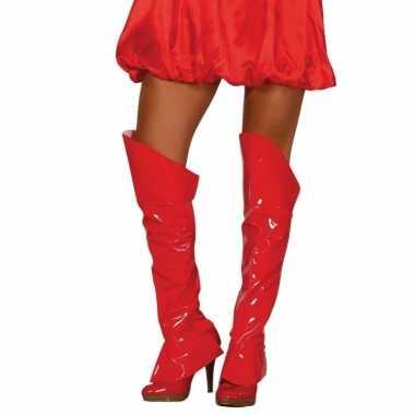 Sexy rode glimmende laarshoezen dames schoenen