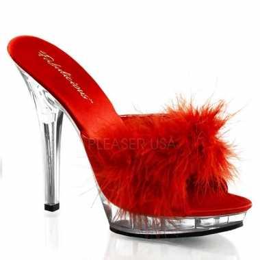 Sexy  Rode stilettos veertjes schoenen