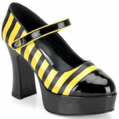 Sexy schoenen bijen motief dames