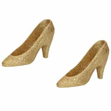 Sexy x kersthangers gouden hakken/pumps kerstboomversiering schoenen