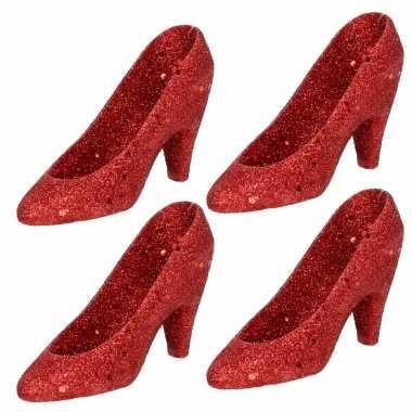 Sexy x kersthangers rode hakken/pumps kerstboomversiering schoenen