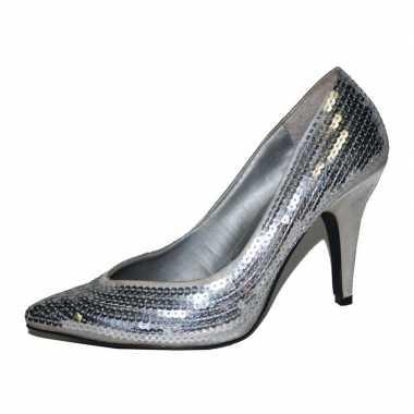 Sexy  Zilveren pailletten dames pumps schoenen