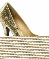 Sexy gouden glitter peep toe pumps schoenen